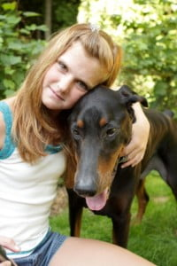 Rescue Dobermans can be a great family pet